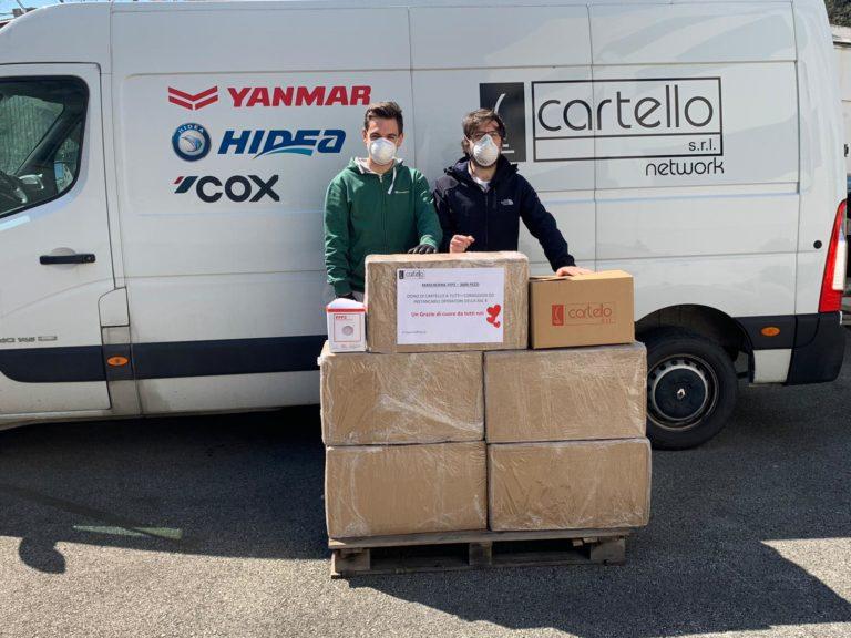 Un gesto per la comunità: Cartello dona 3000 mascherine contro il coronavirus